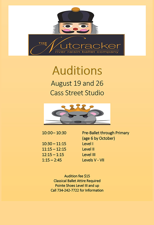 Nutcracker Auditions